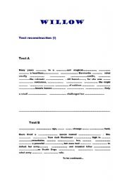 English Worksheets: Willow