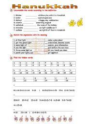 Hanukkah Worksheets & Free Printables | Education.com