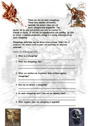 English Worksheets: FAIRY CHANGELINGS 2