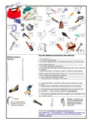 English Worksheet: Tools and Uses