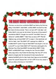 English Worksheet: CHRISTMAS GAME - THE RIGHT FAMILY