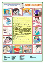 English Worksheet: What�s the matter?