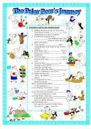 English Worksheets: The Polar Bear�s Journey