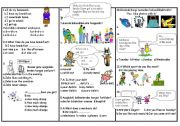 English Worksheet: sbs