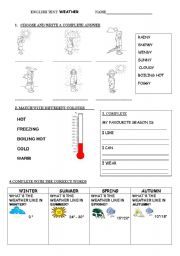 English teaching worksheets: The weather