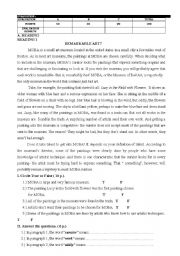 English Worksheet: 11th grade exam