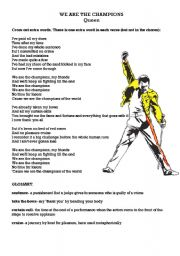 English Worksheets: Sports - We are the champions