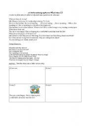 English worksheet: Mrs Hose at home...