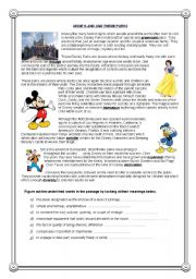 English Worksheet: �Disneyland - Cowboys - Hollywood� - reading comprehension (4)