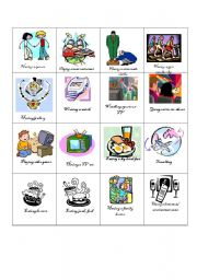 English Worksheet: wants and needs game part 1