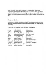 English Worksheet: -ed adjectives and discussing national stereotypes