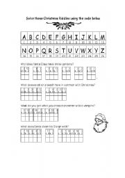 christmas riddles esl worksheet by betsi27. Black Bedroom Furniture Sets. Home Design Ideas