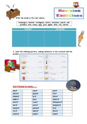Countables - Uncountables - Revision Exercises