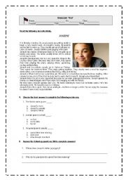 English Worksheet: JOSEPH`S daily routine, Leisure activities