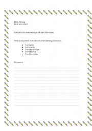 English worksheet: ESOL writing assessment