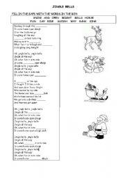 English Worksheet: jingle bells