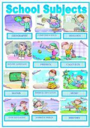 English Worksheet: Education : School Subjects