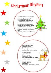 Christmas Rhymes - ESL worksheet by serennablack