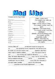 Adjective Mad Libs Worksheets: English teaching worksheets  Mad libs,