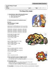 english worksheets the king of the jungle. Black Bedroom Furniture Sets. Home Design Ideas