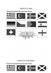 English Worksheet: Europe (3 of 3)