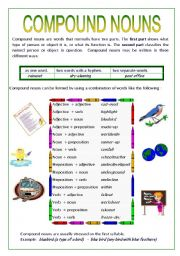Printables Compound Nouns Worksheet english teaching worksheets compound nouns nouns