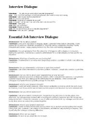 Example conversation job interview | Research paper Example
