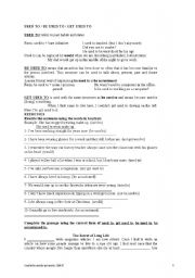 English Worksheet: USED TO / WOULD / BE USED TO / GET USED TO