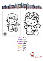English Worksheets: Find four differences between the two pictures and colour them