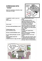 English Worksheets: Expression with