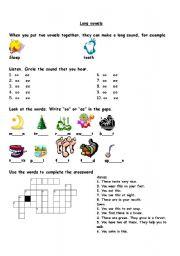 English Worksheet: phonics-long vowels