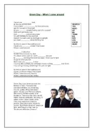 English Worksheet: Green day - When I come around