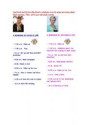English Worksheets: beckham�s routines