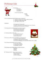 Christmas Quiz  worksheet by Birgitte Koch