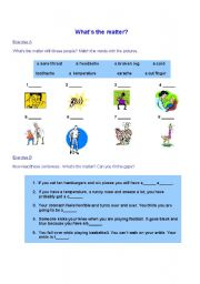 English Worksheets: body ache
