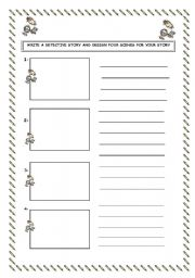English Worksheets: narrative writing