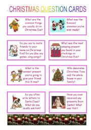 English Worksheets: Question cards questions (whole variant)