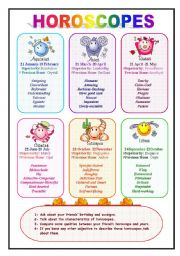 Horoscopes and adjectives (2/2)