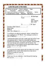 Worksheet complaint letter english worksheet complaint letter spiritdancerdesigns Images