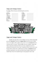 English Worksheets: Happy and Unhappy Renters