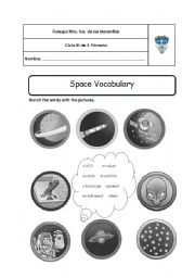 English worksheet: Space vocabulary