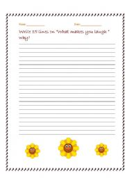 English Worksheets: Laugh And Tell