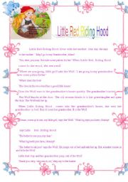 English Worksheet: Little Red Riding hood - Reading Comprehension