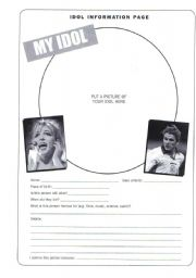 English Worksheets: Idol template