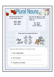 plural of nouns and cardinal numbers