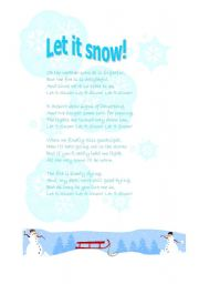 English Worksheet: Let it snow!