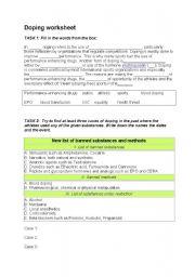english worksheets doping worksheet. Black Bedroom Furniture Sets. Home Design Ideas