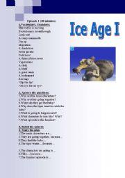English Worksheets: Ice Age (episodes 1-2)