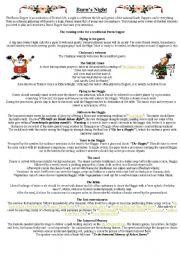 English Worksheets: Burn´s night 1
