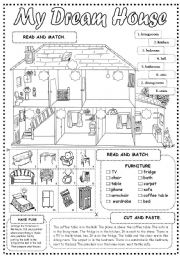 English Worksheet: My Dream House